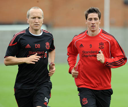 Torres back at training