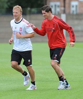 Torres back at training