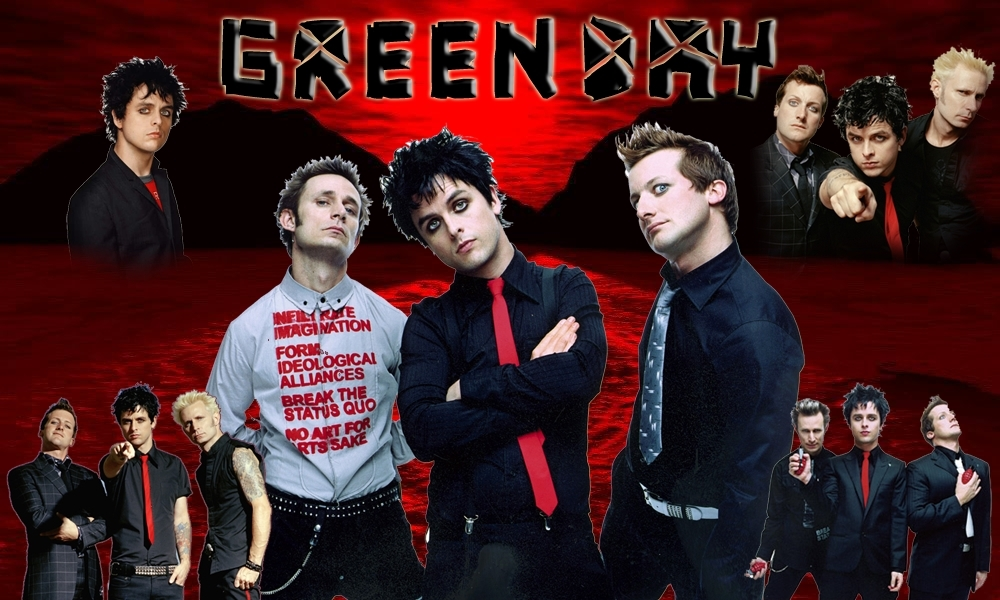wallpaper green day. Wallpaper - Green Day Photo