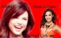 selena and demi - disney-channel-girls fan art