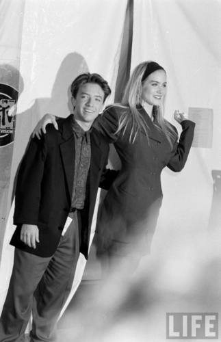 Actors David Faustino and Christina Applegate in August 1990 (3)