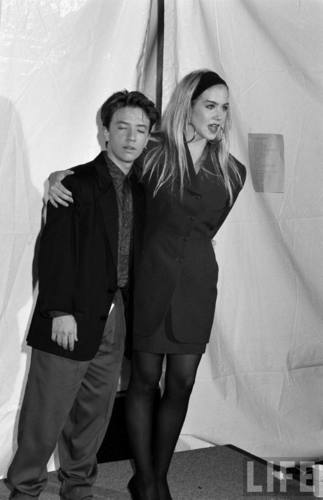 Actors David Faustino and Christina Applegate in August 1990 (6)