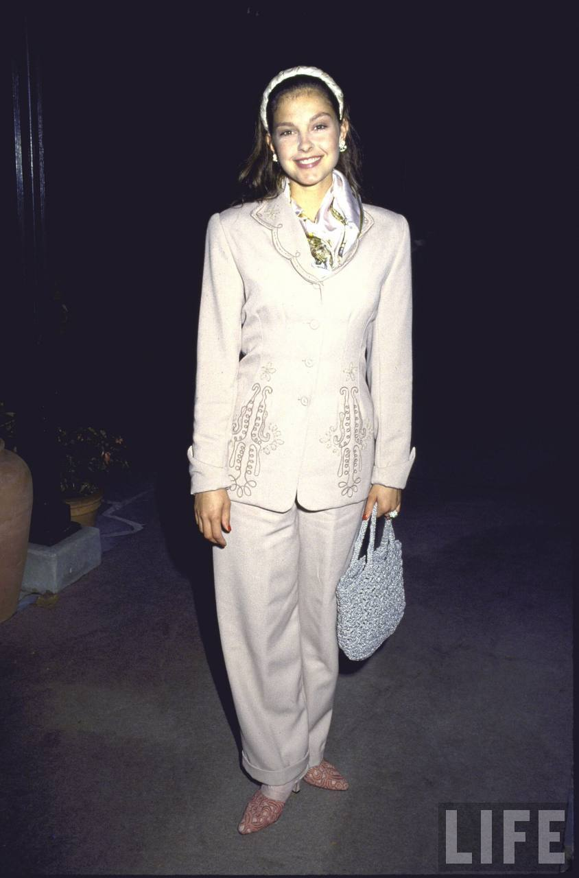 Actress Ashley Judd in a Suit in 1992