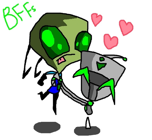 Invader Zim FanCharacters wallpaper entitled BFFs