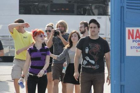 Backstage at the Radio 104.5 BBQ with Paramore