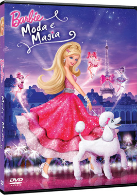 búp bê barbie A Fashion Fairytale Spanish DVD cover