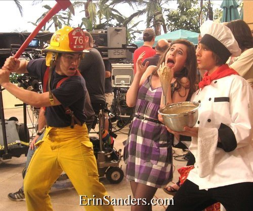 Carlos,Erin and James on Set