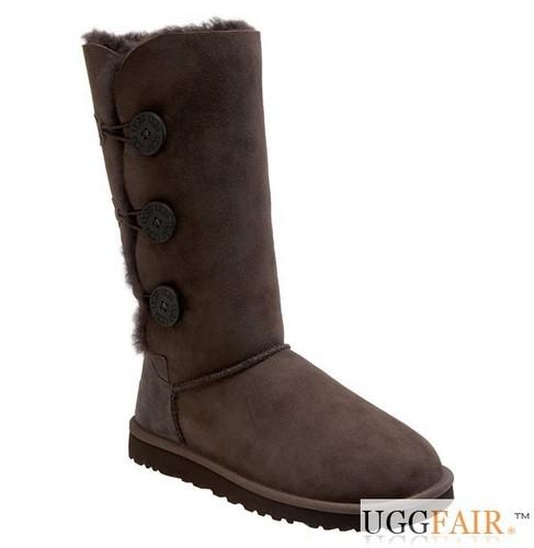 Cioccolato Bailey Button Triplet UGG Boots For UggFair.com