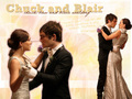 gossip-girl - Chuck Bass and Blair Waldorf wallpaper