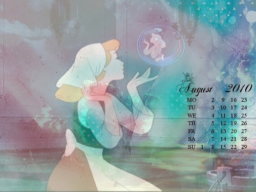 সিন্ড্রেলা - August calendar
