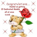 Congatulations Rachel *19* Dediacted पदक all at once , YAY!!!