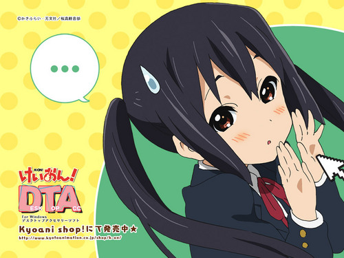 K-ON! 壁纸 titled DTA Collection:Azusa