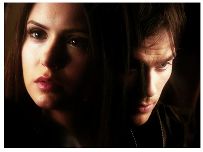 Damon&Elena and Ian&Nina wallpaper titled Delena Banner