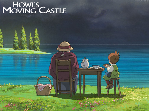 Howl's Moving istana, castle