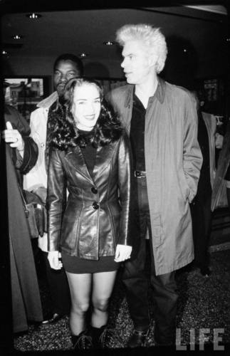 Jim Jarmusch and Winona Ryder in April 1993