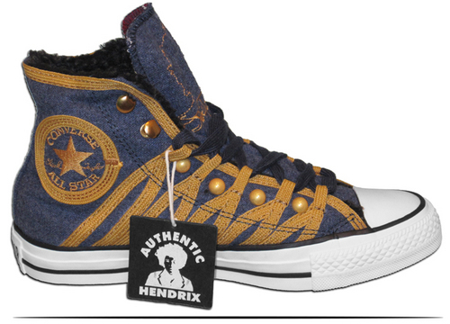 Jimi Hendrix 夹克 匡威 All Stars