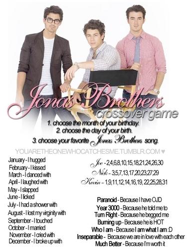 Jonas Brothers crossover game : )