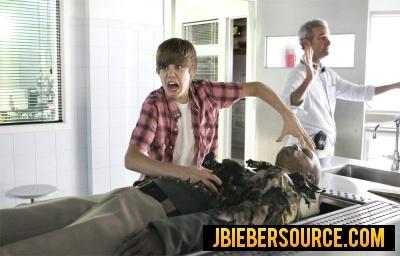 Justin Behind the scenes on csi
