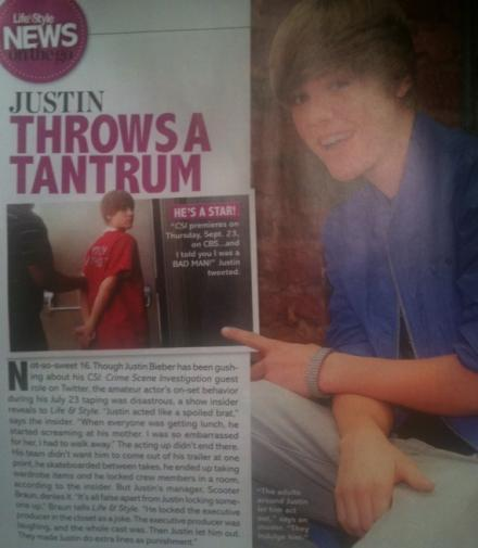 Justin Bieber Csi Set TANTRUM
