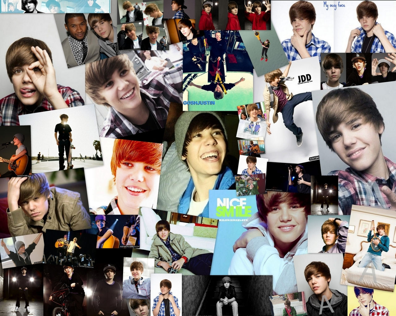Justin Bieber - Wallpaper collage. - Justin Bieber Wallpaper ...