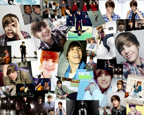 Justin Bieber wallpaper entitled Justin Bieber - Wallpaper collage.