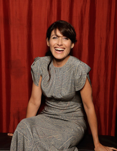 Lisa in the TV Guide photobooth