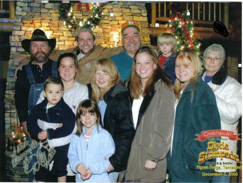 Me and my family at the dixie stanpede in gatlinburg