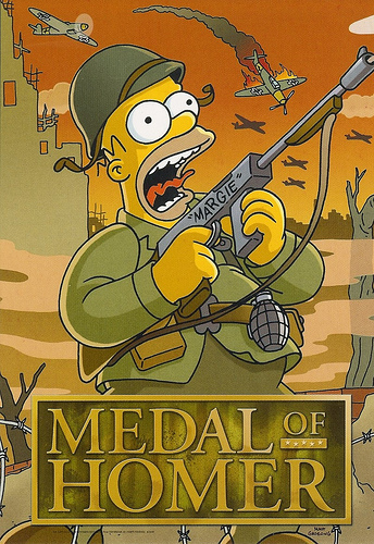 os simpsons wallpaper entitled Medal of Homer