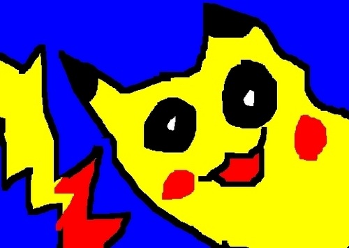My MS Paint Drawing of Pikachu