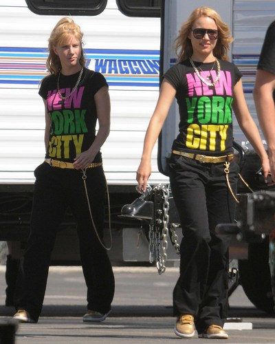 On Set of Glee (August 4, 2010)