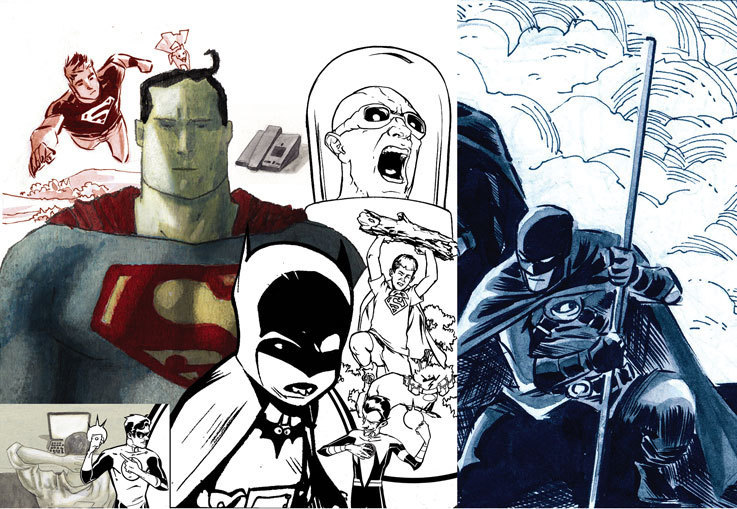Tim drake images red robin in collage hd wallpaper and - Drake collage wallpaper ...