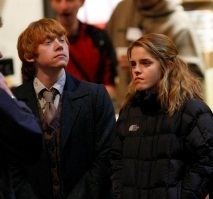 Ромиона (Рон и Гермиона) - Harry Potter & The Deathly Hallows: Part I - Behind The Scenes & On The Set