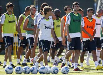 Sergio, mientras que un entrenamiento del Real Madrid <3