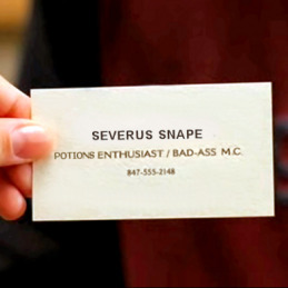 Snape's business card