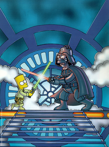 étoile, star Wars: Simpsons version