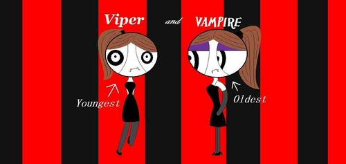 Powerpuff Girls wallpaper titled Vampire twins