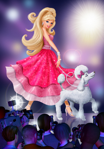 Filem Barbie kertas dinding called Barbie a fashion fairytale