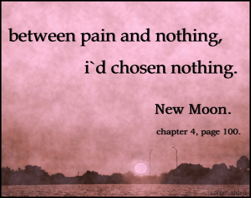 bella new moon quote