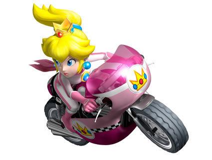 biker peach mario kart wii