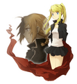 ed and winry - edward-elric-and-winry-rockbell fan art