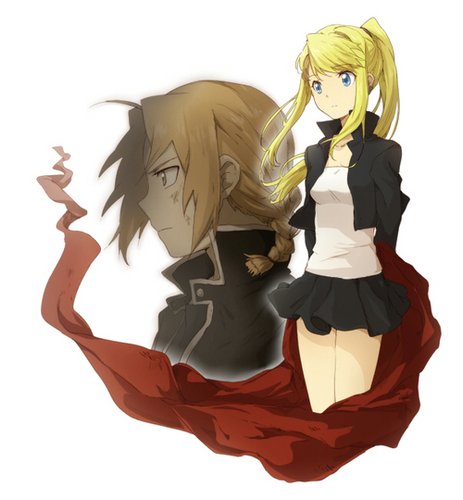 Edward Elric and Winry Rockbell karatasi la kupamba ukuta called ed and winry