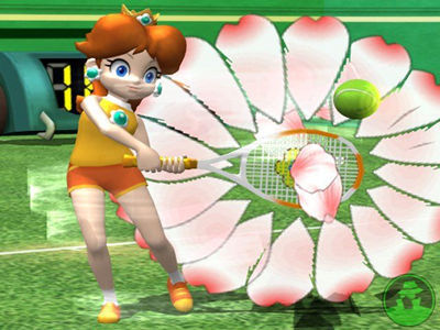 princess peach and princess daisy. mario power tennis daisy 1