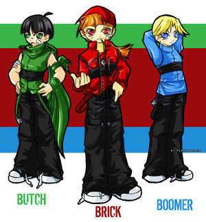 Powerpuff Girls and Rowdyruff Boys fondo de pantalla entitled rowdyruff boys age(i think) 13
