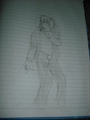 My sister's drawing of MJ  - michael-jackson photo