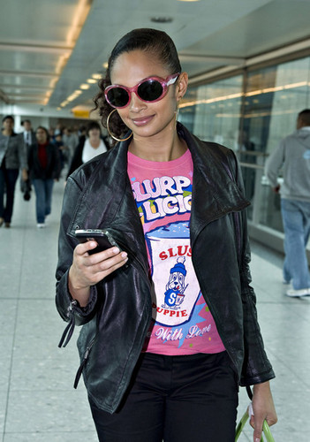 Alesha Dixon Arriving At Heathrow Airport (May 7)