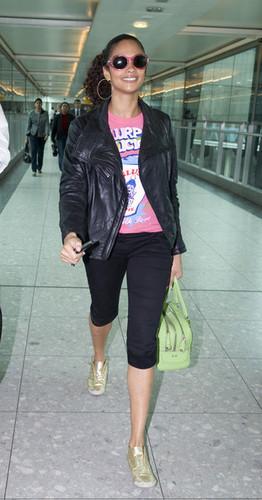 Alesha Dixon Arriving At Heathrow Airport (May 7)