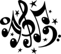 Awesome Music notes 2gether - music-and-art photo