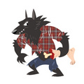 Awesome Werewolf শার্ট নকশা