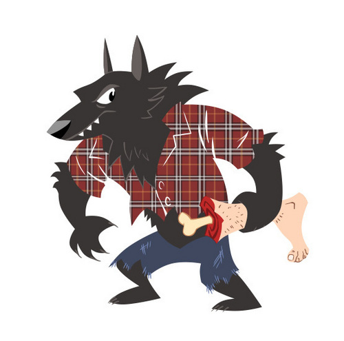 Awesome Werewolf camisa design