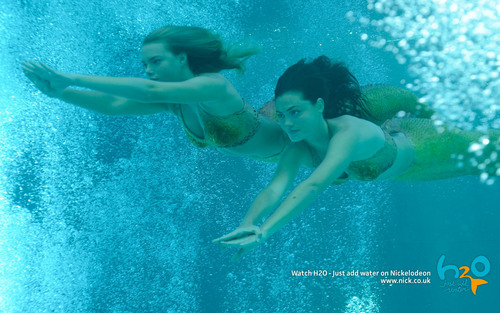 Bella and Cleo swimming underwater